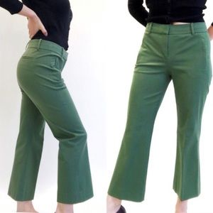 J crew   teddie kick flare pants green 0709